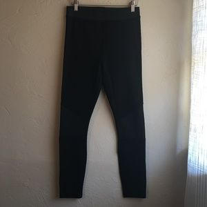 TOPSHOP black biker leggings